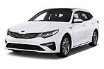 2019 KIA Optima Sense  5 Door Wagon angular front stock photos of front three quarter view