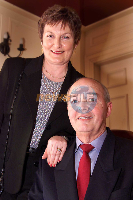 John Eaton with his wife Mary at his retirement party in the Westcourt Hotel..Picture: Paul Mohan/Newsfile