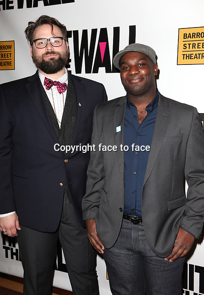 "Eric Hoff & Ike Holter attending the New York Premiere of the Opening Night Performance of ""Hit The Wall"" at the Barrow Street Theatre in New York City on 3/10/2013...Credit: McBride/face to face"