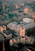 Yale campus aerial, New Haven, CT