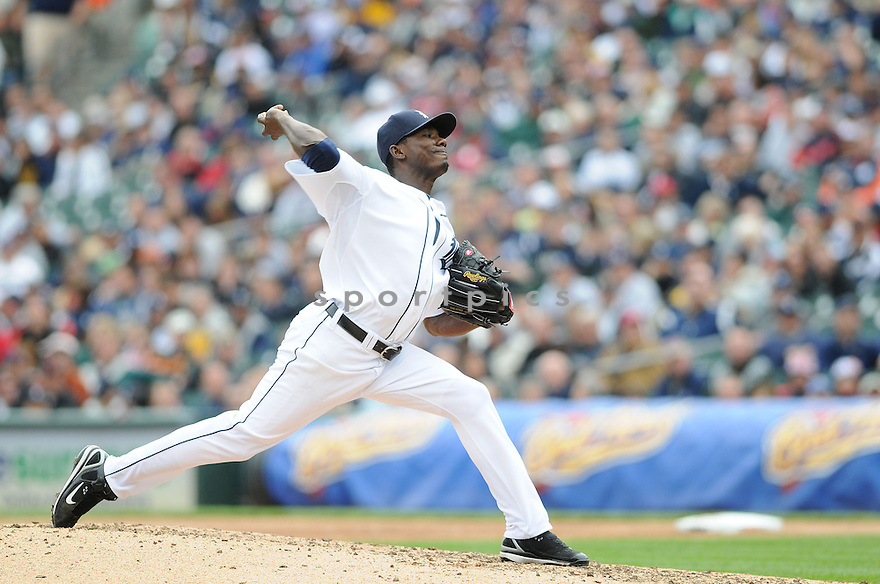 FREDDY DOLSI, of the Detroit TIgers, in action against the Seattle Mariners  during the TIgers game in Detroit, MI on May 22, 2008. The Tigers  won the game 9-2.