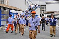 - Genova , manifestazione lavoratori dei cantieri navali Fincantieri di Sestri Ponente contro la chiusura<br /> <br /> - Genoa, demonstration of Fincantieri shipyard workers in Sestri Ponente against the closure