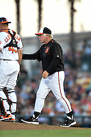 Baltimore Orioles manager Buck Showalter (26) during a Spring Training game against the Atlanta Braves on April 3, 2015 at Ed Smith Stadium in Sarasota, Florida.  Baltimore defeated Atlanta 3-2.  (Mike Janes/Four Seam Images)