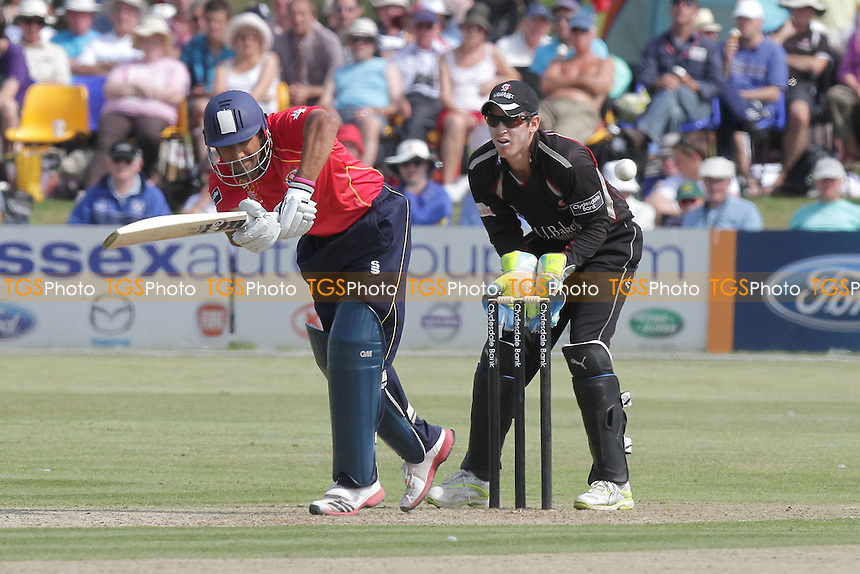 Ravi Bopara of Essex holes out off of the bowling of Craig Meschede - Essex Eagles vs Somerset - Clydesdale Bank CB40 Cricket at Garon Park, Southend-on-Sea, Essex - 31/07/11 - MANDATORY CREDIT: Gavin Ellis/TGSPHOTO - Self billing applies where appropriate - Tel: 0845 094 6026