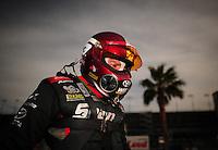 Mar. 30, 2012; Las Vegas, NV, USA: NHRA funny car driver Cruz Pedregon during qualifying for the Summitracing.com Nationals at The Strip in Las Vegas. Mandatory Credit: Mark J. Rebilas-US PRESSWIRE