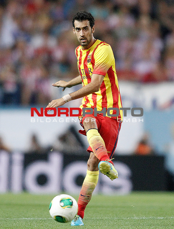FC Barcelona's Sergio Busquets during Supercup of Spain 1st match.August 21,2013. Foto © nph / Acero)
