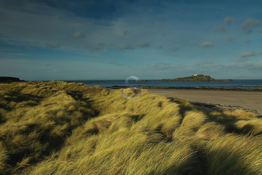 Fidra Lighthouse near Yellowcraigs, East Lothian