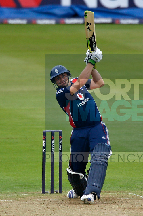 England's Luke Wright in action