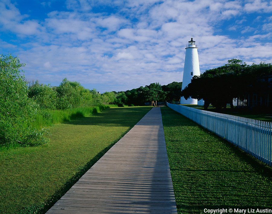Cape Hatteras National Seashore, NC:  Ocracoke Island Lighthouse (1823) located on Ocracoke Island