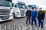 Brian O'Connell, Eoin Stack and Aaron Conway from Abbeydorney having a look at the trucks on display at the Abbeydorney Vintage Society Charity Truck Run in aid of Childline on Sunday