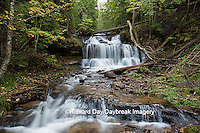64797-00612 Wagner Falls in fall, Alger County, MI