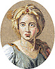 "Custom mosaic church and school emblems - 24"" x 30"" portrait"
