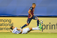 Philadelphia, PA - Wednesday July 19, 2017: Bryan Tamacas, Justin Morrow during a 2017 Gold Cup match between the men's national teams of the United States (USA) and El Salvador (SLV) at Lincoln Financial Field.