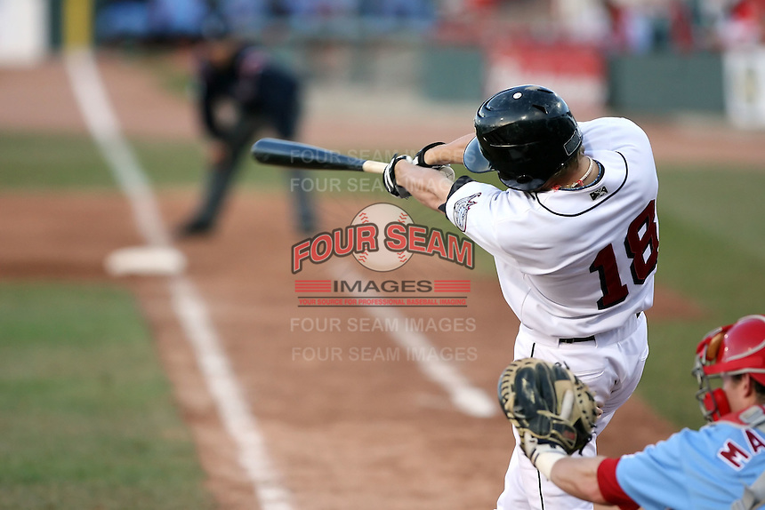 May 29th 2008:  Deik Scram of the Erie Seawolves, Class-AA affiliate of the Detroit Tigers, during a game at Jerry Uht Park in Erie, PA.  Photo by:  Mike Janes/Four Seam Images