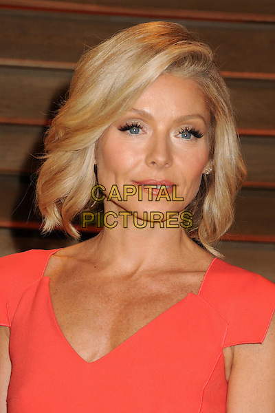 02 March 2014 - West Hollywood, California - Kelly Ripa. 2014 Vanity Fair Oscar Party following the 86th Academy Awards held at Sunset Plaza.  <br /> CAP/ADM/BP<br /> &copy;Byron Purvis/AdMedia/Capital Pictures