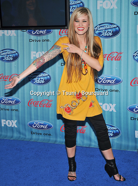 Megan Corkrey -<br /> American Idol Top 12 Party at the AREA club in Los Angeles.