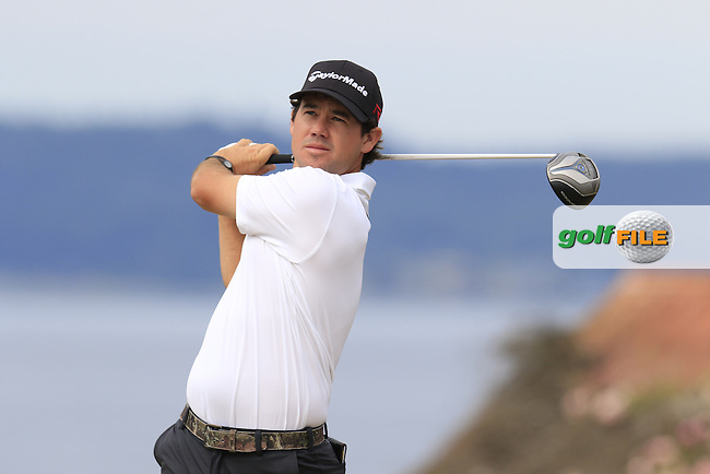 Brian HARMAN (USA) tees off the 18th tee during Thursday's Round 1 of the 2015 U.S. Open 115th National Championship held at Chambers Bay, Seattle, Washington, USA. 6/18/2015.<br /> Picture: Golffile | Eoin Clarke<br /> <br /> <br /> <br /> <br /> All photo usage must carry mandatory copyright credit (&copy; Golffile | Eoin Clarke)