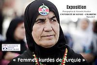 """Exposition photographique """"Femmes kurdes de Turquie"""" dans le cadre d'un cycle de conférence en sciences politiques à l'Université Savoie Mont Blanc de Chambéry."""