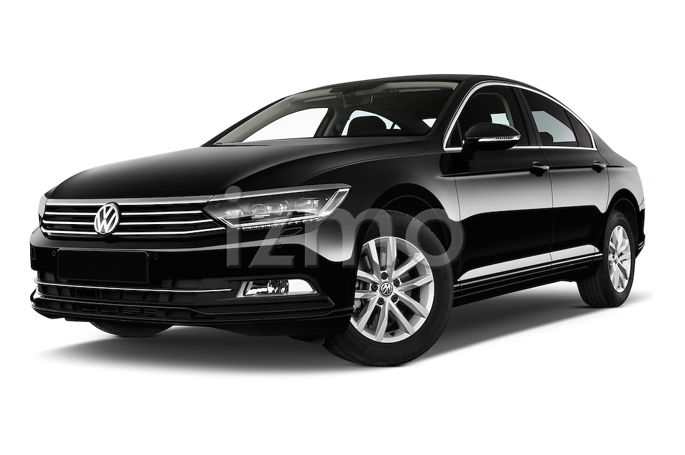 Stock pictures of low aggressive front three quarter view of a 2015 Volkswagen Passat Comfort 4 Door Sedan Low Aggressive
