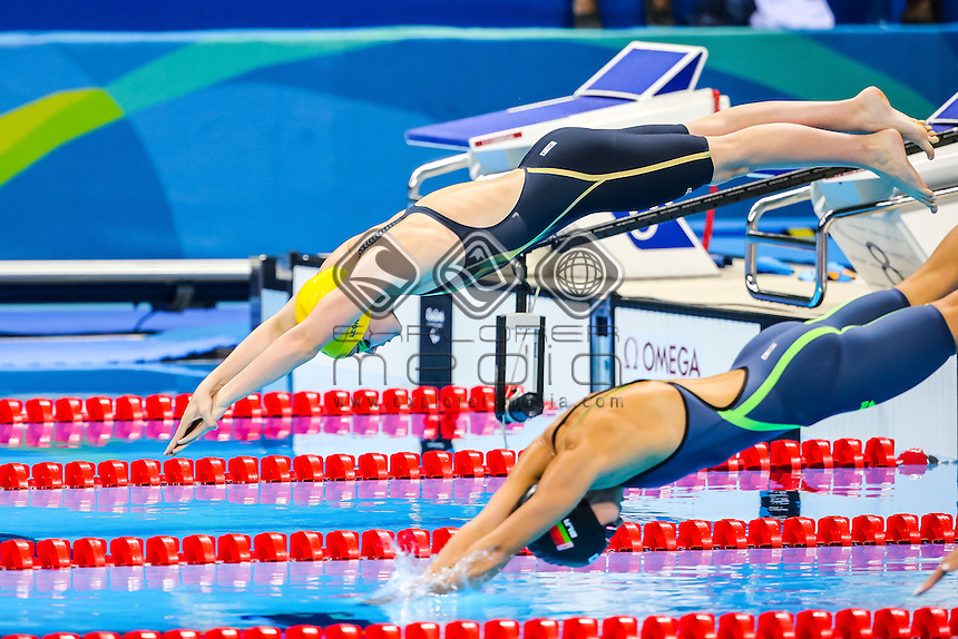 Paige Leonhardt finishes 4th in the womens 50m freestyle S10 on day two at Olympic Aquatic Stadium.<br /> 2016 Paralympic Games - RIO Brazil<br /> Australian Paralympic Committee<br /> Friday 9th September 2016<br /> &copy; Sport the library / Drew Chislett