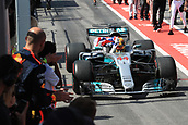 June 11th 2017, Circuit Gilles Villeneuve, Montreal Quebec, Canada; Formula One Grand Prix, Race Day; Lewis Hamilton - Mercedes AMG Petronas wins in Canada as he comes into parc ferme