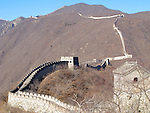 Great Wall of China near Beijing, China.