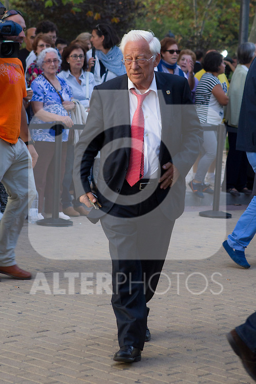 Angel Garcia Rodriguez visits San Isidro funeral home following the death of Miguel Boyer in Madrid, Spain. September 29, 2014. (ALTERPHOTOS/Victor Blanco)