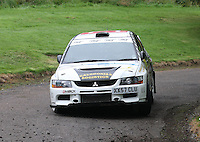 Quentin Milne / Martin Forrest near Junction 10 on the Gleaner Oil & Gas Cooper Park Special Stage 1 of the Gleaner Oil & Gas Speyside Stages Rally 2012, Round 6 of the RAC MSA Scotish Rally Championship which was organised by The 63 Car Club (Elgin) Ltd and based in Elgin on 4.8.12.........