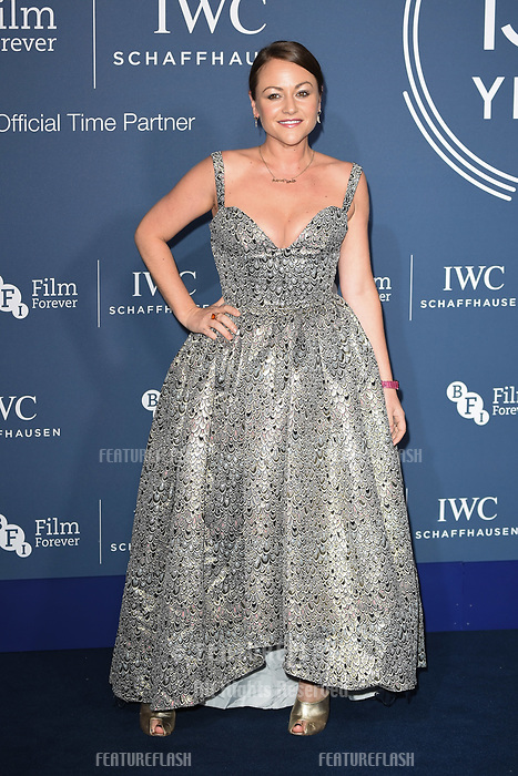 LONDON, UK. October 09, 2018: Jaime Winstone arriving for the 2018 IWC Schaffhausen Gala Dinner in Honour of the BFI at the Electric Light Station, London.<br /> Picture: Steve Vas/Featureflash