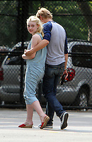 NEW YORK CITY- July 03, 2012: Dakota Fanning and Boyd Holbrook shooting on location for the new film, Very Good Girls. © RW/MediaPunch Inc. *NORTEPHOTO*<br />