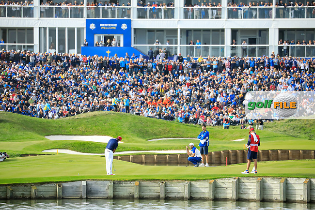 Rickie Fowler (Team USA) during the sunday singles at the Ryder Cup, Le Golf National, Paris, France. 30/09/2018.<br /> Picture Phil Inglis / Golffile.ie<br /> <br /> All photo usage must carry mandatory copyright credit (© Golffile | Phil Inglis)