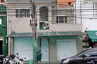 SÃO PAULO,SP, 07.03.2017 - MANCHA-VERDE - Vista da sede da Mancha Verde, com as portas pintadas de branco, no bairro de Perdizes, na zona oeste da cidade de São Paulo, nesta terça-feira, 07. A Polícia Civil de São Paulo já identificou dois suspeitos de terem participado do assassinato de Moacir Bianchi, um dos fundadores da torcida Mancha Alviverde, a maior organizada do Palmeiras. O crime foi na última quinta-feira. Segundo apurou a reportagem do Estado, um dos suspeitos é Marcelo Jony Maciel, conhecido como Marcelinho. (Foto: Nelson Gariba/Brazil Photo Press)