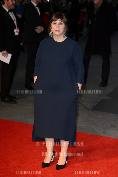 Abi Morgan at the BFI London Film Festival premiere of &quot;Suffragette&quot; at the Odeon Leicester Square, London.<br /> October 7, 2015  London, UK<br /> Picture: Dave Norton / Featureflash