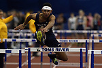 Matthew Hill from Norte Dame High School runs the anchor leg of the Boys High Hurdle Relay during the NJSIAA Winter Track &amp; Field Relay Championships held at Bennett Center in Toms River on Wednesday January 18, 2018.<br /> <br /> (Mark R. Sullivan | For NJ Advance Media)