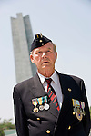 Korean War veteran Ernest Moscrop takes part in a commemorative event to mark the 60th anniversary of the start of the Korean War at the National Cemetery in Seoul, South Korea on 23 June, 2010..Photographer: Rob Gilhooly .