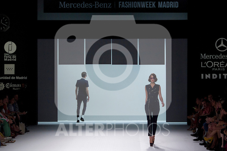 01.09.2012. Models walk the runway in the David Delfin  fashion show during the Mercedes-Benz Fashion Week Madrid Spring/Summer 2013 at Ifema. (Alterphotos/Marta Gonzalez)