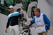 16.10.2014. The London Golf Club, Ash, England. The Volvo World Match Play Golf Championship.  Day 2 group stage matches. Jamie Donaldson [WAL] on the eighth tee.