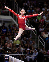 Kyla Ross of Gym-Max competes on the beam during 2012 US Olympic Trials Gymnastics Finals at HP Pavilion in San Jose, California on July 1st, 2012.