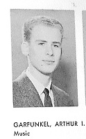 Art Garfunkel Forest Hills High School (Queens N.Y.) Yearbook.1958 Senior Year Portraits By Jonathan Green Celebrity Photography USA