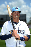 Charlotte Stone Crabs shortstop Willy Adames (2) poses for a photo after a game against the Daytona Tortugas on April 14, 2015 at Charlotte Sports Park in Port Charlotte, Florida.  Charlotte defeated Daytona 2-0.  (Mike Janes/Four Seam Images)