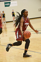 NWA Democrat-Gazette/FLIP PUTTHOFF <br /> Jeniya Gause moves down court Tuesday Jan. 8 2019 for the Springdale Lady Bulldogs.