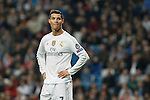Real Madrid´s Cristiano Ronaldo reacts after missing a chance during 2015/16 Champions League soccer match between Real Madrid and Malmo at Santiago Bernabeu stadium in Madrid, Spain. December 08, 2014. (ALTERPHOTOS/Victor Blanco)