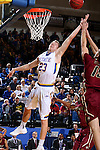 BROOKINGS, SD - FEBRUARY 6:  Reed Tellinghuisen #23 from South Dakota State tips the ball in for two in front of Matt O'Leary #15 from IUPUI during their game Saturday evening at Frost Arena in Brookings. Photo by Dave Eggen/Inertia)