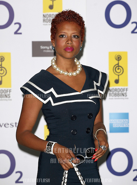 Kelis arriving for the Silver Clef Awards 2010, Park Lane Hilton, London. 05/07/2010  Picture by: Alexandra Glen / Featureflash