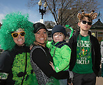 Brooke Forman, Erica Heavrin, 2 1/2 year old River and 8 year old Bowdoin during the Shamrock Shuffle 5k fun run in Sparks on Saturday, March 4, 2017.