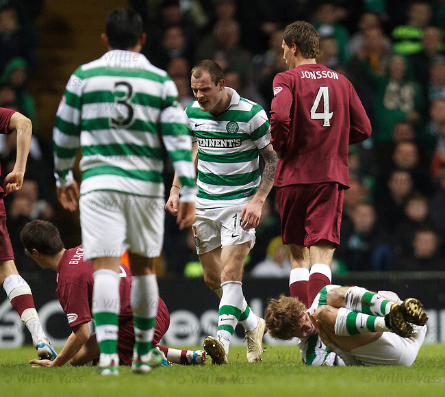 Ian Black goes in late and hard on Paddy McCourt sparking angry scenes and fighting on the pitch