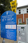 Ticket machine, Pay & Display car park, Farnham, Surrey.