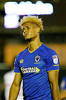 AFC Wimbledon's Lyle Taylor shows anguish during the Sky Bet League 1 match between AFC Wimbledon and MK Dons at the Cherry Red Records Stadium, Kingston, England on 22 September 2017. Photo by Carlton Myrie / PRiME Media Images.