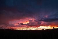 The late summer monsoon creates a memorable sunset over Oakley, Utah.