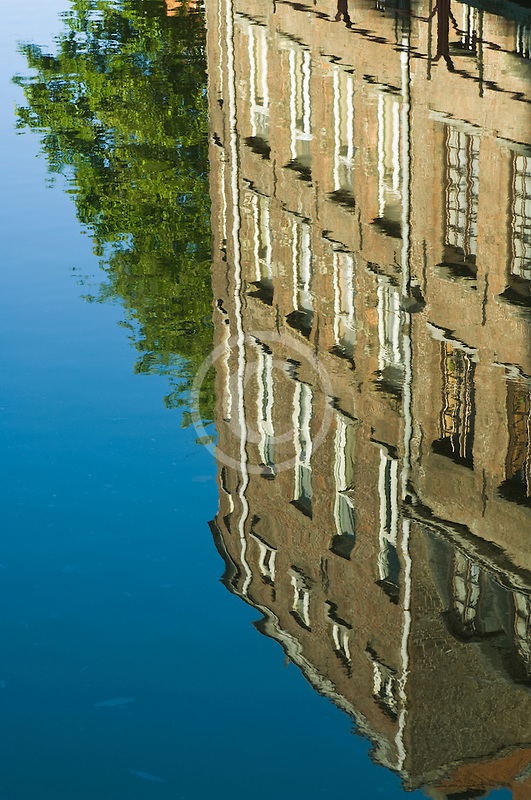 Belgium, Ghent, Reflection in canal